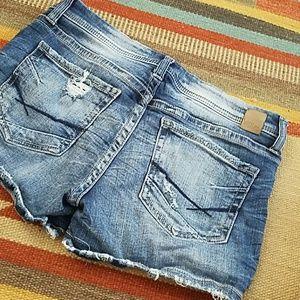 BKE Stella low rise jean shorts